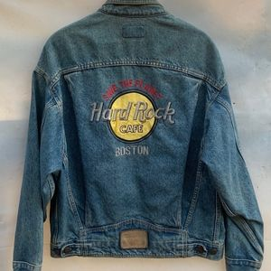 Hard Rock Cafe Vintage Denim Jacket, Boston